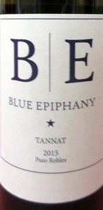 Blue Epiphany Vineyard Tannat Paso Robles 2015