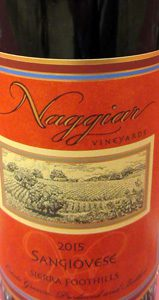 Naggiar Vineyards & Winery Sangiovese Sierra Foothills 2015