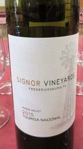 Signor Vineyards Touriga Nacional Rogue Valley Gold Vineyard 2015